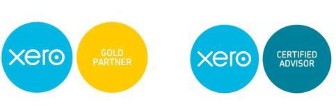 xero certified and gold logos